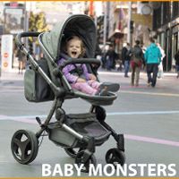 Cochecitos de paseo para el bebé Baby Monsters, en sus versiones Fresh, Easy Twin Gemelar, Compact, Fast