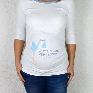 Camiseta Premama Who´s Coming